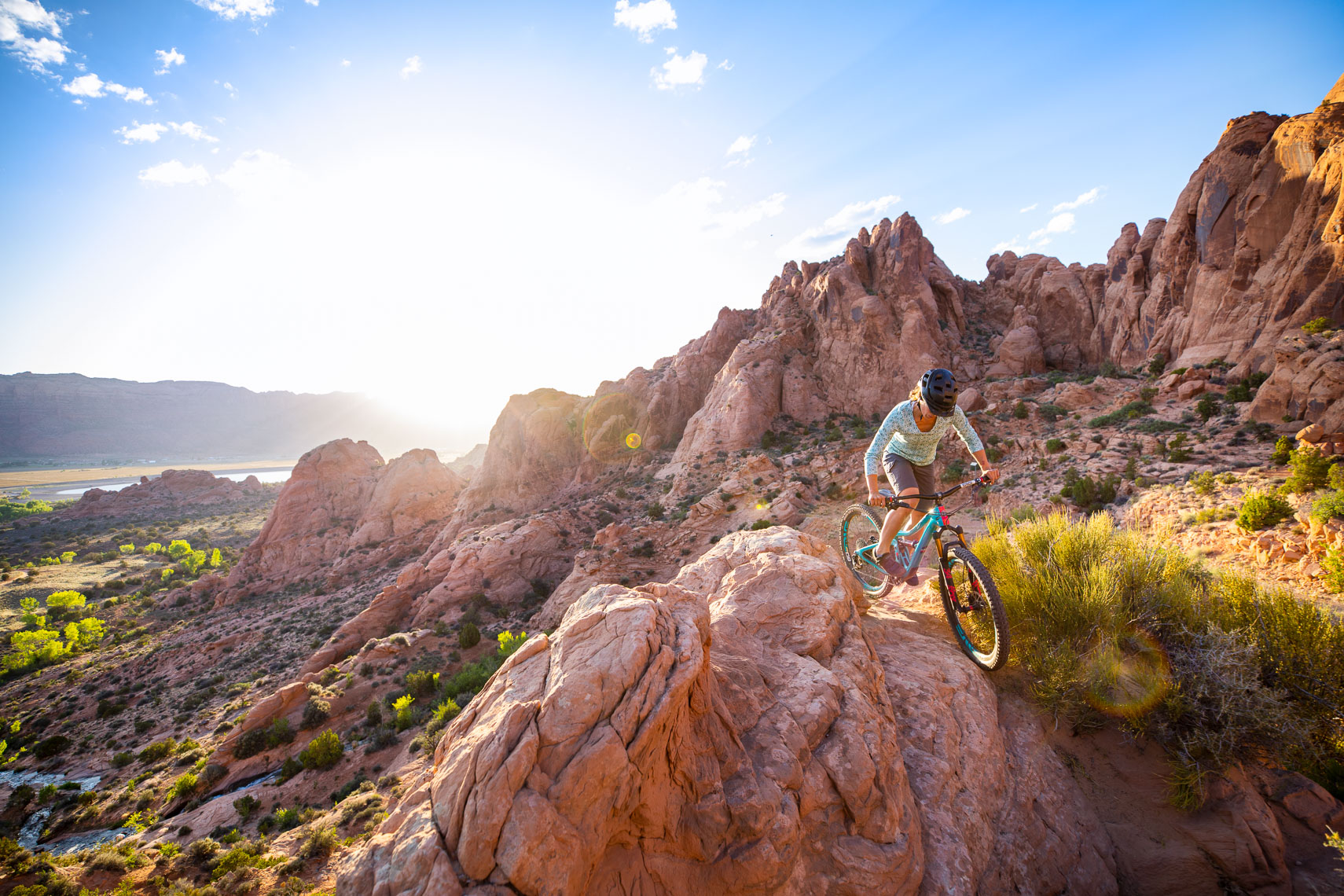 Healthcare and fitness photographer Robert Houser photographs mountain biking on location in Moab, Utah