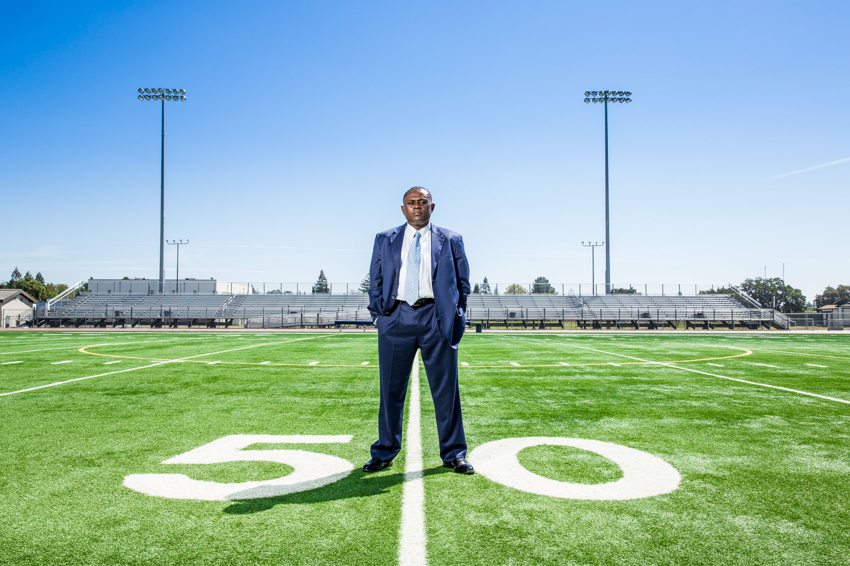 Dr. Bennet Omalu, Concussion doctor who took on the NFL, photographed on location by editorial photographer Robert Houser